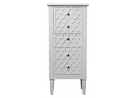 Cassidy White Wood Tallboy Cabinet