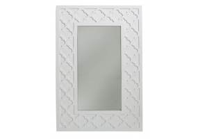 Cassidy White Wood Wall Mirror