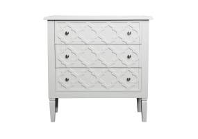 Cassidy White Wood 3 Drawer Cabinet
