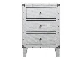 White Allora Medium Bedside Cabinet