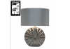 Chrome Ribbed Medium Silver Round Base Table Lamp