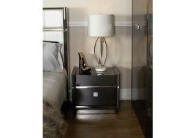 Aurelia Dark Grey Walnut Bedside Cabinet