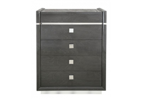 Aurelia Dark Grey Walnut 5 Drawer Chest