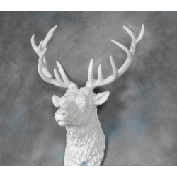 Large Stag Head in White