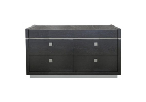 Aurelia Dark Grey Walnut 6 Drawer Chest