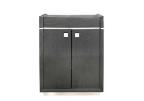 Aurelia Dark Grey Walnut 2 Door Cabinet