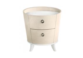 Auguri Light Walnut 2 Drawer Bedside Cabinet