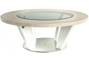 Auguri Light Walnut Round Coffee Table