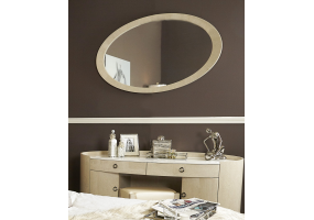 Auguri Light Walnut Wall Mirror
