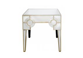 Leonardo Mirror End Table