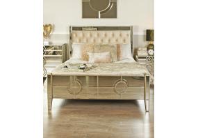 Leonardo Mirror King Size Bed Frame