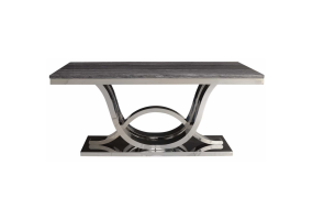 Juniper Grey Marble And Chrome Dining Table