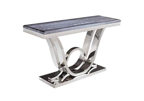 Juniper Grey Marble And Chrome Console Table