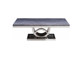 Juniper Grey Marble And Chrome Coffee Table