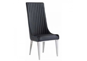 Juniper Grey Marble And Chrome Dining Chair