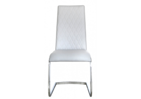Lexus Light Grey Chrome Dining Chair
