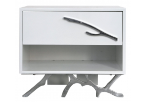 White Mambo Bedside Cabinet