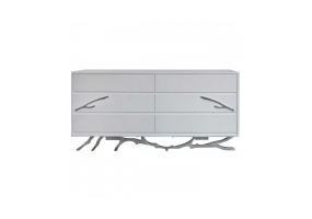 White Mambo 6 Drawer Chest