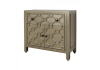 Gold Geo 1 drawer 2 Door Cupboard Sideboard