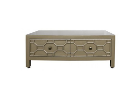 Gold Geo 2 Drawer Coffee Table