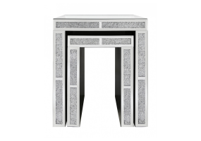 Milano Mirror Set Of 2 Nest of Tables