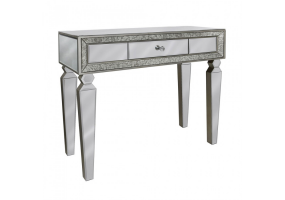 Madison Antique And Clear Mirror Console Table