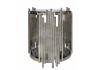 Lorenzo Metal & Glass End Table Polished Steel