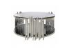 Lorenzo Metal & Glass Round Coffee Table Polished Steel