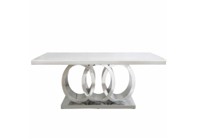 Rodelia Natural Marble Dining Table