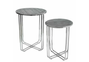 Payton Marble Effect Top Set of 2 Nesting Tables