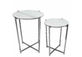 Eleana Marble Effect Top Set Of 2 Nesting Tables