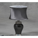 Small Mosaic Table Lamp - Silver