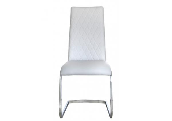 Leon Light Grey Chrome Dining Chair