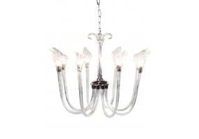 Murano Style Glass 8 Branch Chandelier