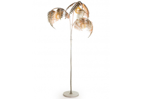 Antique Silver Palm Leaf Floor Lamp