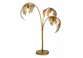 Antique Gold Palm Leaf Table Lamp