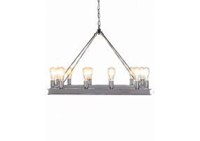 Chrome Rectangular Gallery Chandelier