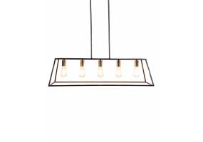 Black and Steel Industrial Frame Pendant