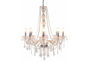 Chateau 8 Branch Glass Arm Chandelier