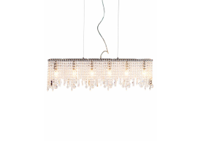 Rectangular Waterfall Crystal Chandelier