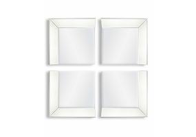 Venetian 4 Corner Piece Mirror Set