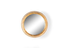 Small Gold Round Metal Wall Mirror