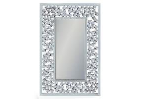 "Rectangular Venetian Wall Mirror with Large ""Diamond"" Detail"