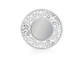 "Round Venetian Wall Mirror with Large ""Diamond"" Detail"