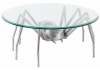 Large Aluminium Spider with Glass Top Coffee Table