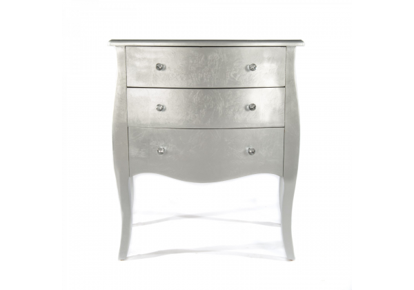 Silver Gilt Leaf Chest Of 3 Drawers