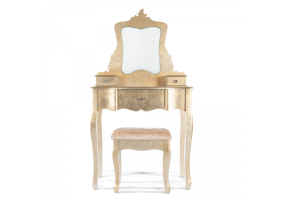 Gold Gilt Leaf Dressing Table Set