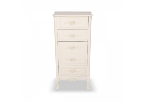Rose White - Soft White 5 Drawer Chest of Drawers