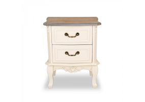 Appleby Wood Top Bedside Table 2 Drawer