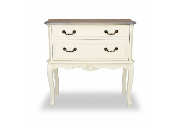Appleby Wood Top Console Table - 2 Drawer